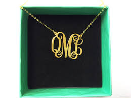 sterling silver monogram pendant necklace women real gold plated necklace customized monogram pendant necklace beat gift for women girls monogram necklace