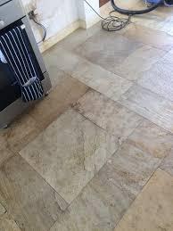 slate floor before cleaning crowborough