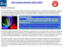 Global Lighting Market 2016 Ppt Mro Worldwide Led Lighting Industry Opportunities And