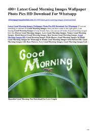 Latest Good Morning Images Wallpaper ...