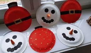 Weihnachtsdeko Basteln Mit Kindern Schneemann Pappteller