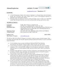 Database Developer Resume Template Interesting Database Developer Resume Sample DiplomaticRegatta
