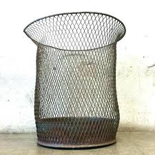 tall trash can. Decorative Garbage Can Target Metal Trash Wire Favored Tall