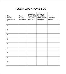 Mail Log Template Staff Communication Log Template Templates Printable Free