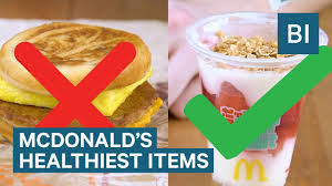 the healthiest things you can get at mcdonald s