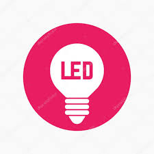 Led Light Bulb Icon Lamp Round Sign Stock Vector Nexusby 121836440