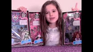 monster high makeup beauty set review frankie stein draculaura and clawdeen sets