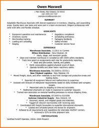 Warehouse Distribution Resume Warehouse Resume Samples Bination ...