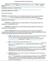 Free Printable Lease Agreement For Renting A House Sample Residential Lease Agreement Printable Simple Rental Free