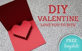 Free Card Templates 3d Heart Valentines Card Free Template