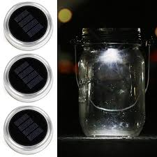 Solar Jars Solar Mason Jar Lid Kohree 3 Pack Led Mason Jar Lights For Glass
