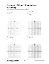 solving and graphing inequalities worksheet doc – streamclean.info