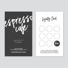 loyalty card template espresso cafe loyalty card