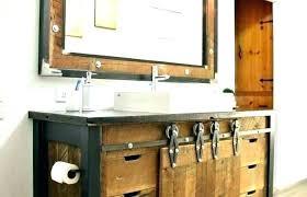 rustic vanity lights barnwood best lighting for bathroom charming ru pretty canada lantern wood
