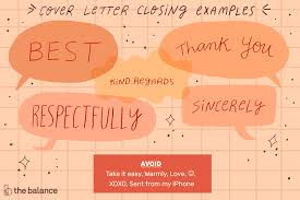 write a cover letter closing with exles