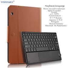 Dành Cho Máy Tính Bảng Huawei MediaPad T5 10 AGS2 W09/L09/W19/L03 10.1  ''Bluetooth Không Dây Bàn Phím Máy Tính Bảng Giá Đỡ bao Da Ngôn Ngữ Đa Ngôn  Ngữ