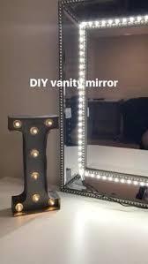 makeup mirror lighting. DIY Vanity Mirror. I Used Any Mirror And LED Strip Lights. Makeup Lighting T