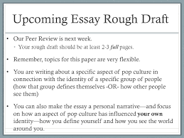 week introducing essay ppt upcoming essay rough draft