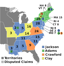 John Quincy Adams Presidency Chart 1824 United States Presidential Election Wikipedia