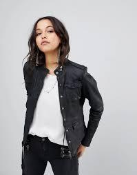 goosecraft leather field jacket clothing coats jackets for women black nz4gyt0t