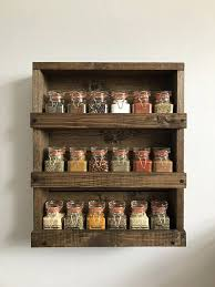 Wooden Spice Rack Wall Mount Adorable Rustic Wood Spice Rack Wood Wall Mounted Spice Organizer Rustic