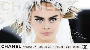 cara delevingne for chanel spring summer 2016 haute couture show makeup tutorial you