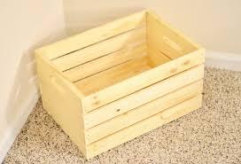 unfinished wood toy box