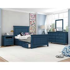 Beckham 4 Piece Youth Full Bedroom Set With 3 Drawer Storage