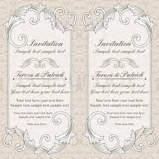 Baroque Wedding Invitations Baroque Wedding Invitation Card In Old Fashioned Style Grey And