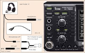 heil proset ic headphones connection does not require explanation microphone jack is connected trcv microphone connector through adapter ad 1 ic which has round 8