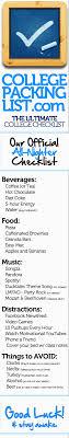 College Packing List App College Packing List Your College Checklist