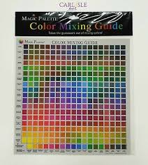 Paint Color Mixing Chart Magic Palette Color Mixing Guide 324 Colours Ebay