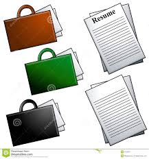 Briefcases And Resume Clip Art Stock Illustration Image 4122817