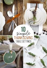thanksgiving table ideas. Simple Thanksgiving Table Settings Ideas S