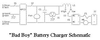 battery charger schematic bad boy bonn charger schematic
