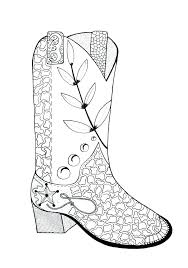 Cowboy Boots Colouring Pages Coloring Pages Cowboy Boots Cowboy