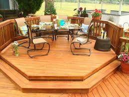 deck ideas. Deck Pressure Treated Wood Octogon Deck Ideas