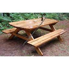 build your own wood picnic table family