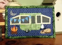 Camping Memories Mug Rug - Camper Mini Quilt or Wall Decor &  Adamdwight.com