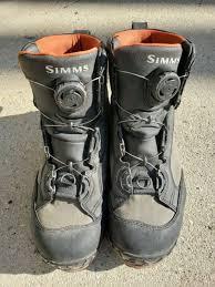 Simms Headwaters Boa Wading Boots Vibram Sole Size 9 Eu 42