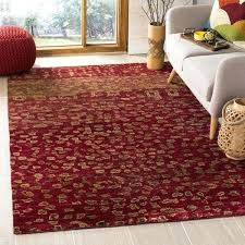 wool jute rug hand knotted tangier red pottery barn chunky natural reviews
