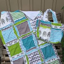 Easy Peasy Quilt Pattern. The Most Versatile Rag Quilt Pattern on ... & Matching Rag Quilt and Diaper Bag with Elephants blue, gray, green, for baby Adamdwight.com