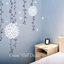 flower wall decals tree vinyl wall decals butterfly sticker children wall decals nursery wall art  on flower wall art for nursery with baby girl flower wall decal nursery wall from cuma on etsy