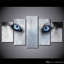 2018 framed printed wolf blue eyes painting poster home wall decor canvas picture art hd print painting artworks from solutionwinni 37 91 dhgate com