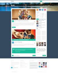 Blog Website Templates Stunning Media Blog Web Template Psd Free Download