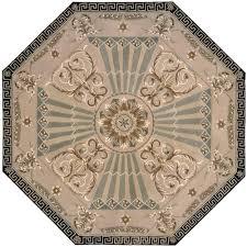 nourison versailles palace beige 6 ft x 6 ft octagon area rug