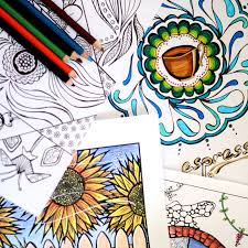 Small Picture 21 Things to make with adult coloring pages Moms and Crafters