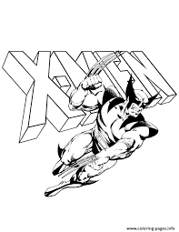 Small Picture wolverine and x men logo comic Coloring pages Printable