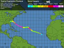 Hurricane Tracking Chart Florence Tropical Depression Florence Weather Underground