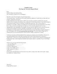 return of security deposit form letter best photos of landlord security deposit return letter
